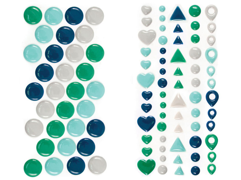 enamel dots and shapes_cool