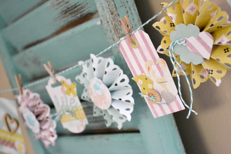 We R Spring Rosette Banner by Aly Dosdall_close 1