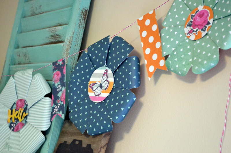 We R Flower Punch Board Garland by Aly Dosdall_close
