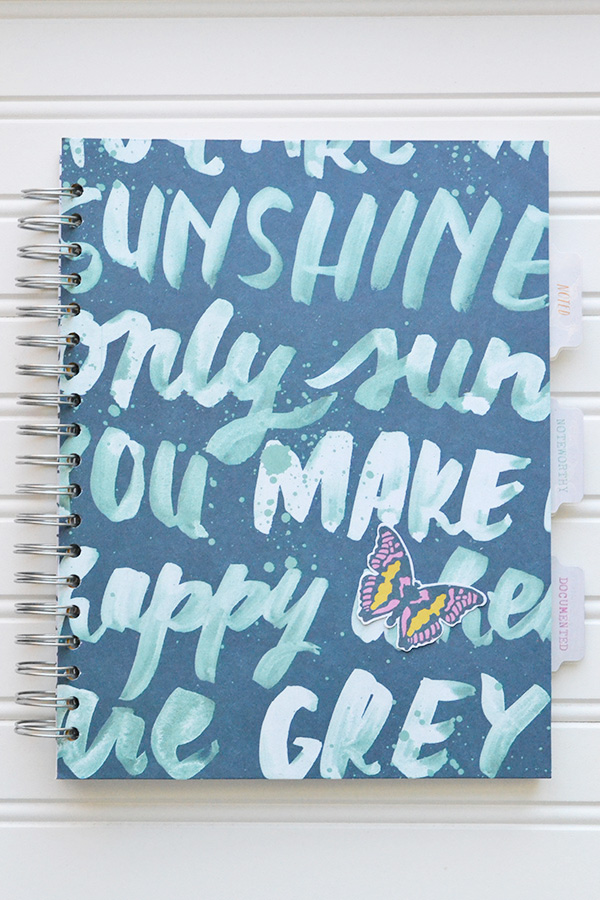 DIY School Notebook by Aly Dosdall