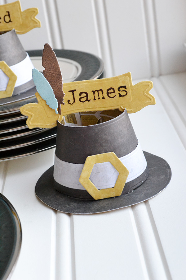 Pilgrim Hat Place Cards by Aly Dosdall 1