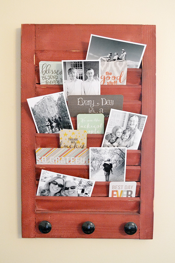 Shutter Family Photo Display by Aly Dosdall