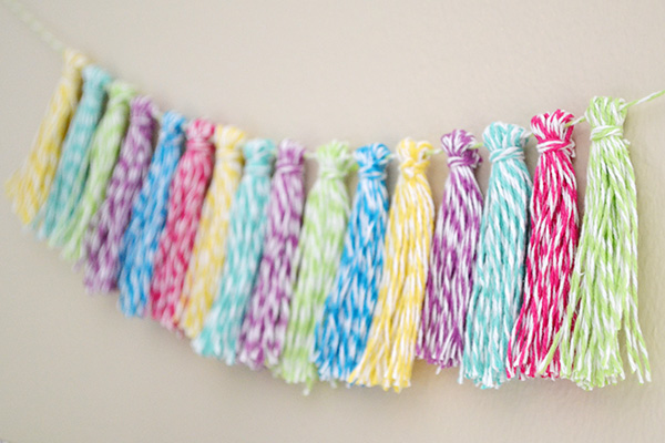 Bakers Twine Tassel Garland by Aly Dosdall_close 1