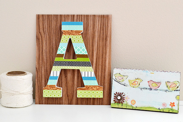 Washi Tape Letter Decor by Aly Dosdall 2