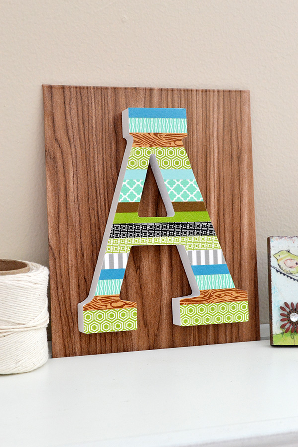 Washi Tape Letter Decor by Aly Dosdall