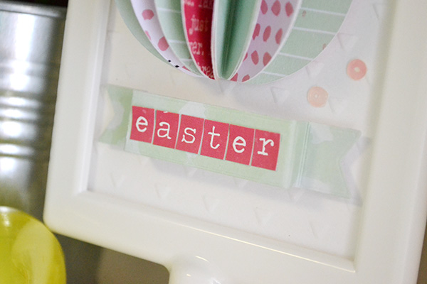 Folded Easter Egg Frame by Aly Dosdall_close 2