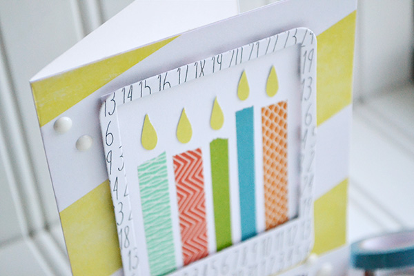 Washi Tape Candle Card by Aly Dosdall 2