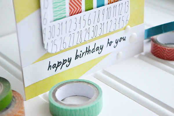 Washi Tape Candle Card by Aly Dosdall 3