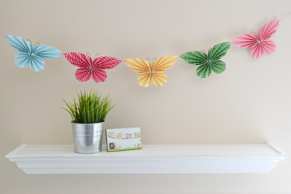 Folded Butterfly Garland by Aly Dosdall