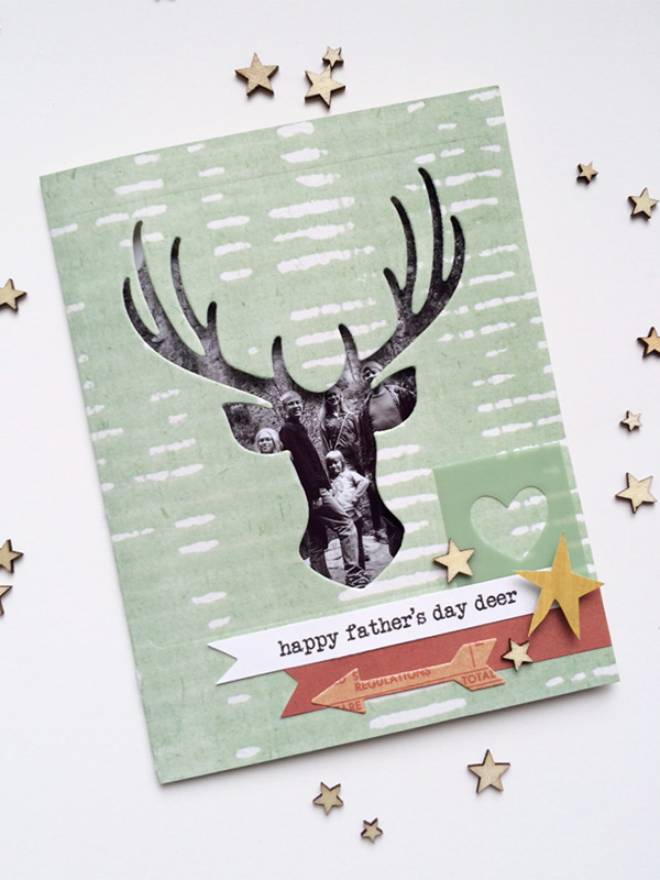father's day photo card with evolution advanced by aly dosdall