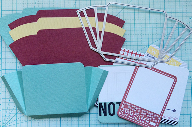 accordion pocket die cuts and journaling cards