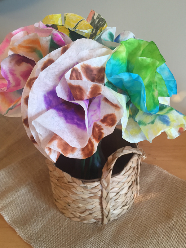 Coffee Filter Flowers by Jen McDermott1