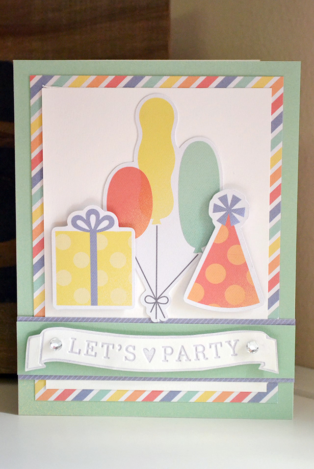 lets party embossing folder card by aly dosdall