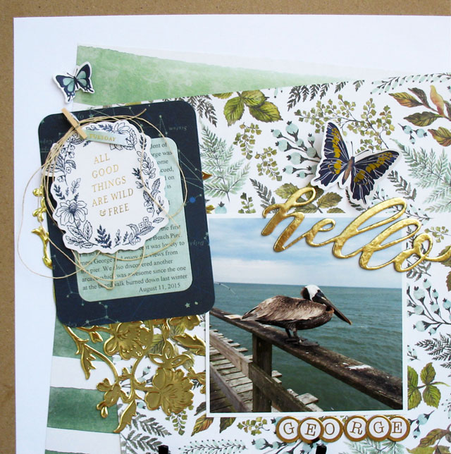 Layout featuring We R Memory Keepers Wildflower collection by designer Kathy Martin. #wermemorykeepers #wildflower