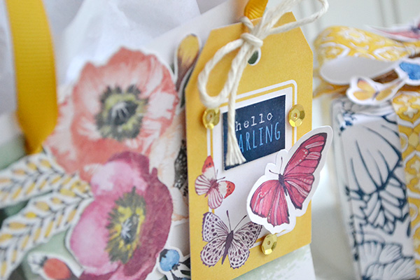 gift bag with butterfly tag by Aly Dosdall