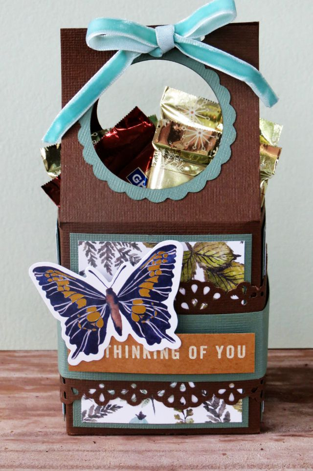 Treat container featuring the Wildflower collection by We R Memory Keepers made by designer Carrie Walz.