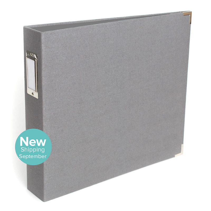 12x12 Grey Linen Album from We R Memory Keepers #scrapbook #scrapbooking
