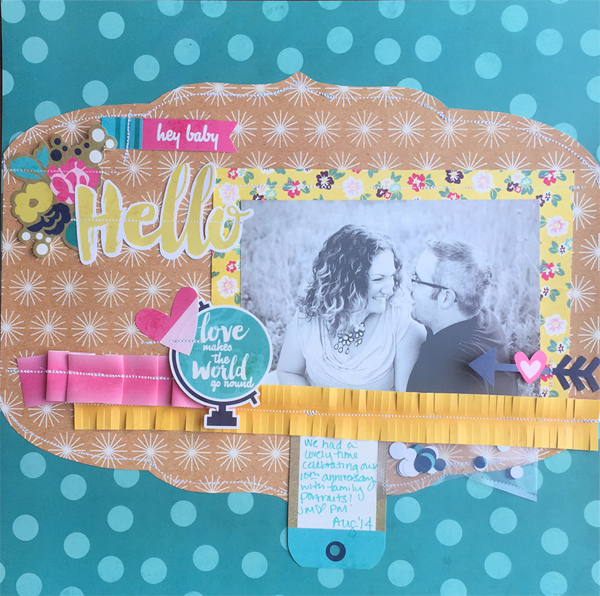 FUSEables scrapbook layout by Jen McDermott for We R Memory Keepers #FUSEables #thefuse #scrapbooking