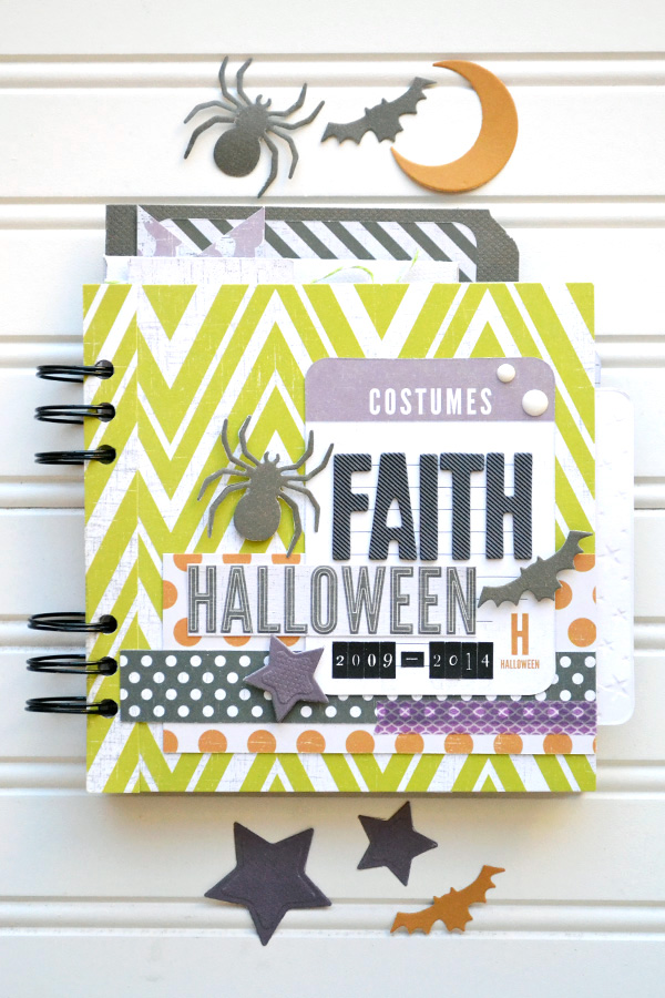 Halloween Costumes Mini Album by Aly Dosdall for We R Memory Keepers #halloween #minialbum #thecinch