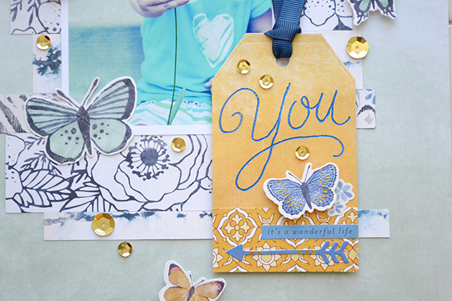 We R Memory Keepers Heat Wave Pen_handmade scrapbook page tag by Aly Dosdall