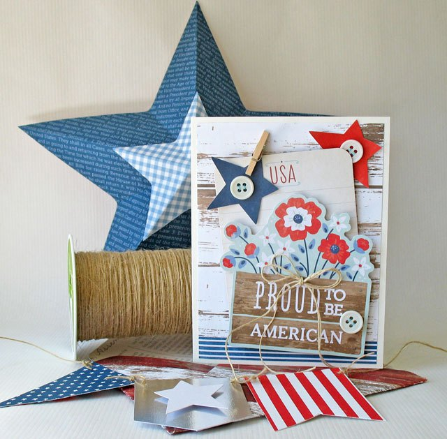 Patriotic Card and Decor by Kathy Martin for We R Memory Keepers
