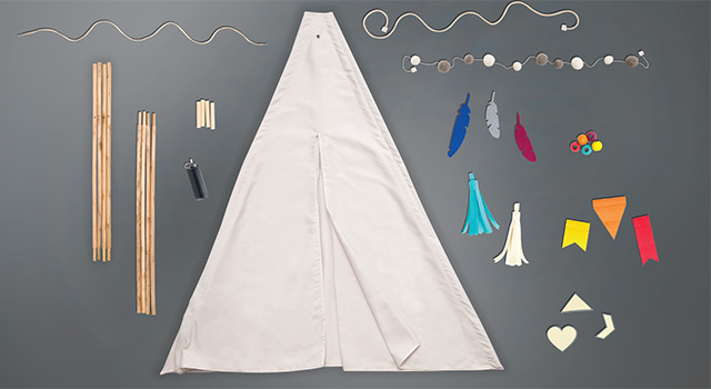 We R Memory Keepers + Crate Paper DIY Teepee kit #DIYteepee #targetcom