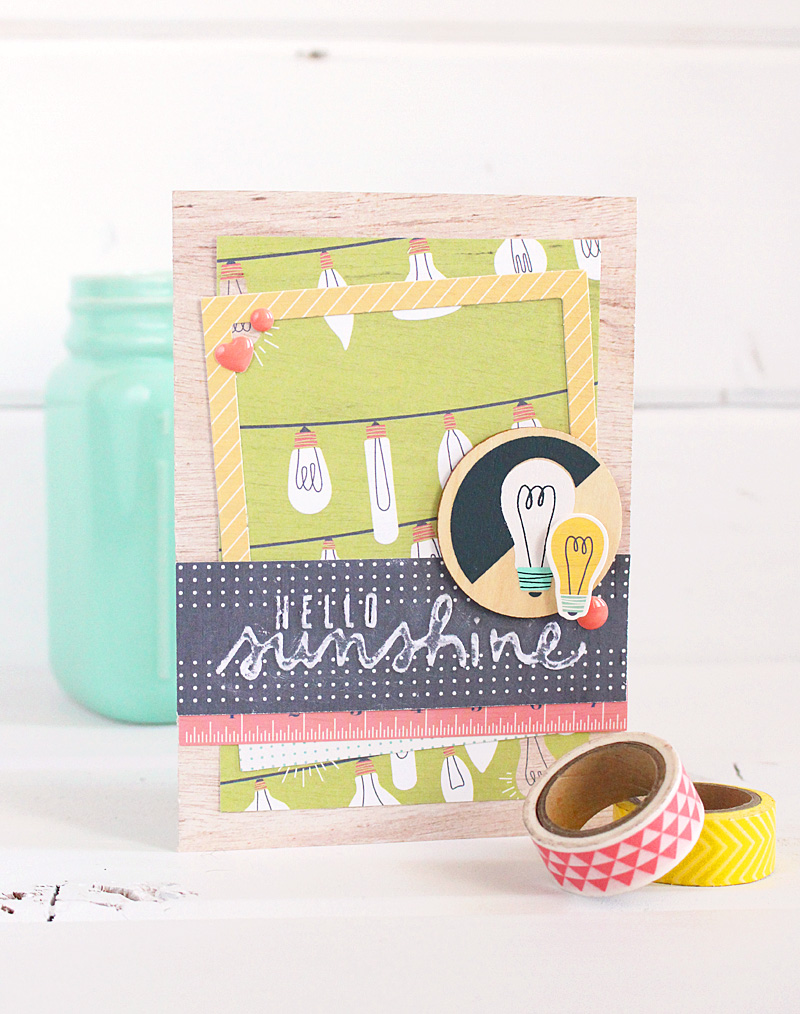 Hello Sunshine Card by Kimberly Crawford featuring the We R Memory Keepers Honey I'm Home collection.