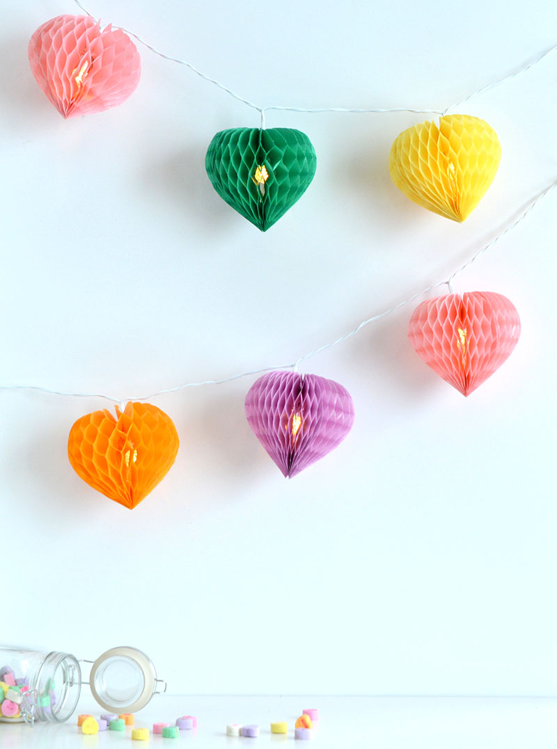 Honeycomb Hearts Light Strand by Amanda Coleman for We R Memory Keepers