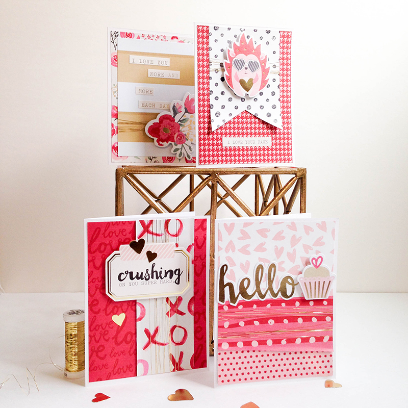 Crush Valentine Cards by Tessa Buys for We R Memory Keepers