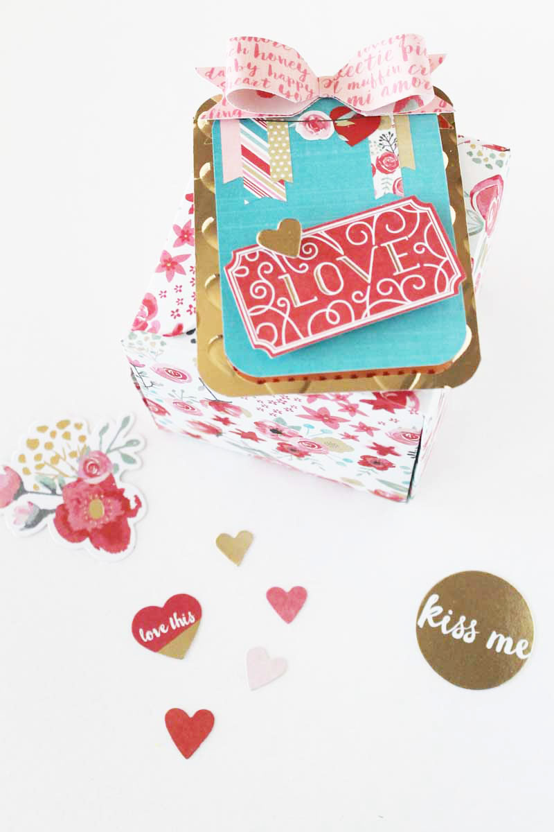 Valentine Gift Box by Laura Silva for We R Memory Keepers