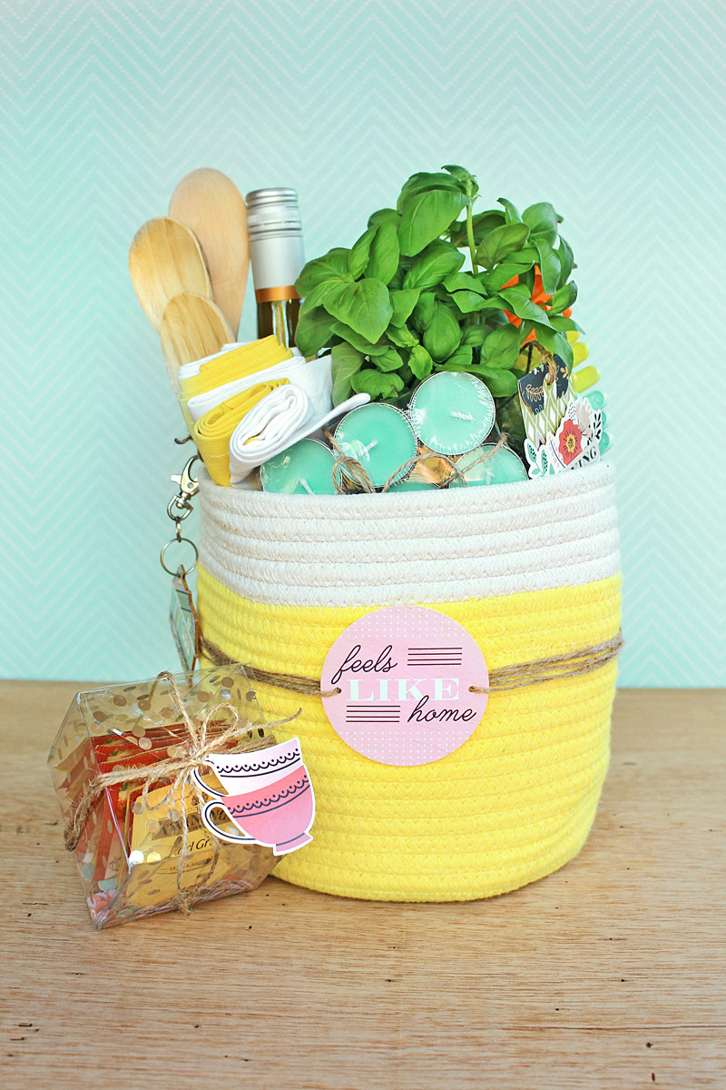 Housewarming Party Gift Basket by Chantalle McDaniel for We R Memory Keepers