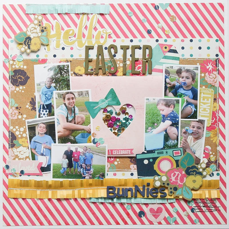 Hello Easter Bunnies by Wendy Antenucci for We R Memory Keepers