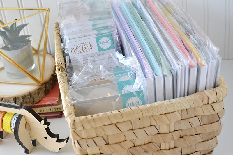 We R Memory Keepers DIY Party Honeycomb Pad Storage by Aly Dosdall_close