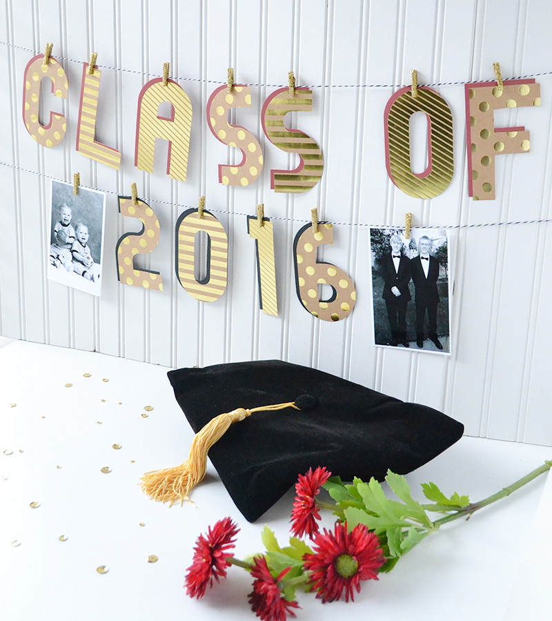 Alphabet Punch Board Graduation Banner by Aly Dosdall 6