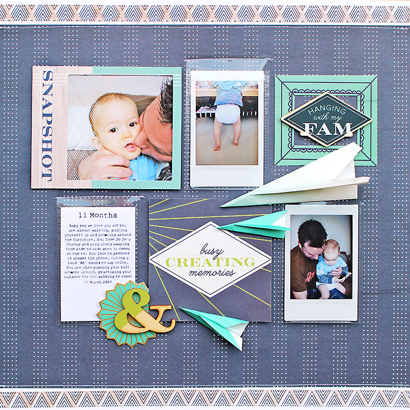 Hanging-with-my-fam layout by Chantalle McDaniel