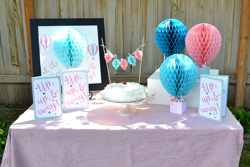 Hot Air Balloon Honeycomb Party Decor by Aly Dosdall 5