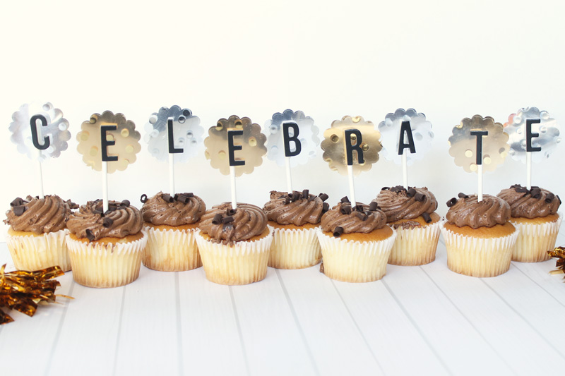 Celebrate Cupcake Toppers by Laura Silva 1