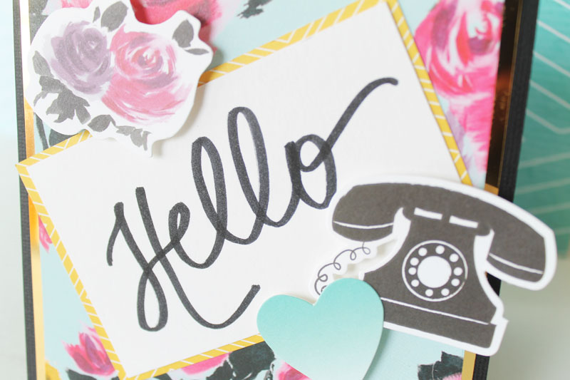 Hand Lettered Urban Chic Card by Laura Silva 6