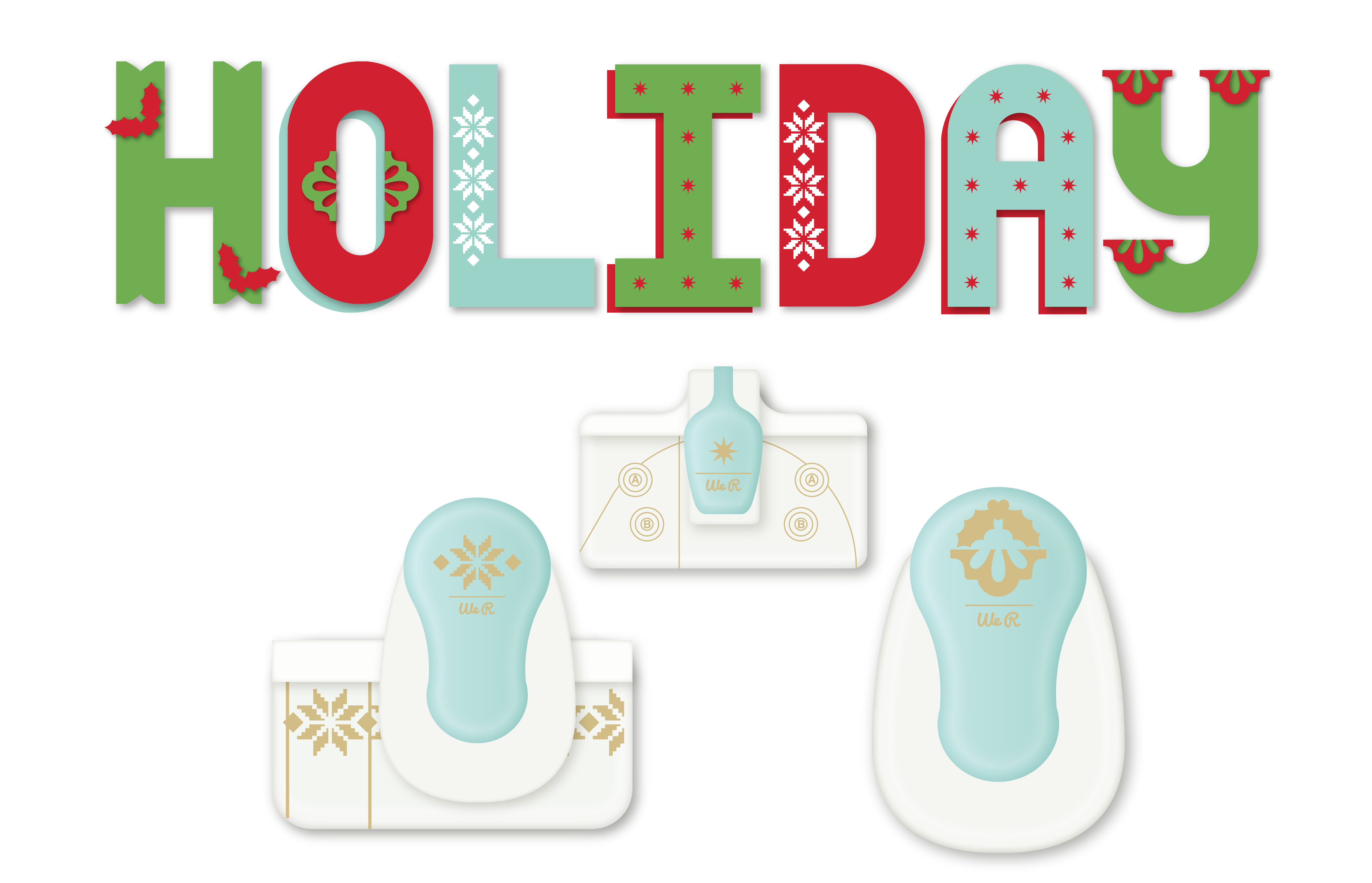 Holiday Font Punch_Styled Vector