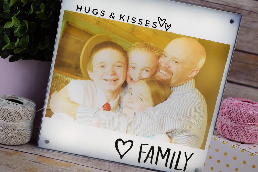 Family Photo Light Box by Becki Adams for We R Memory Keepers