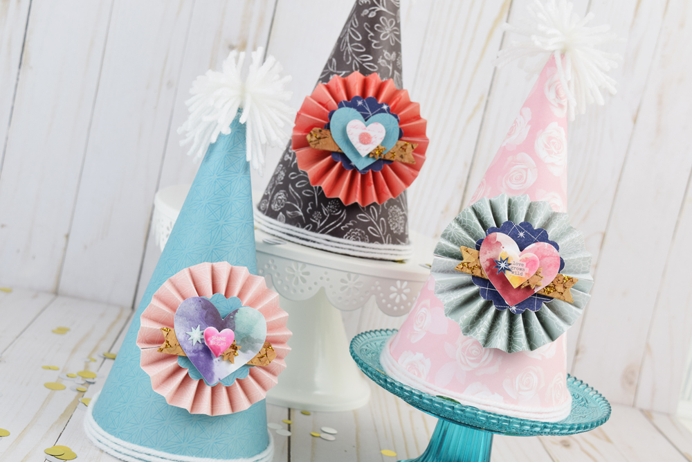 DIY Party Hats by Becki Adams for We R Memory Keepers