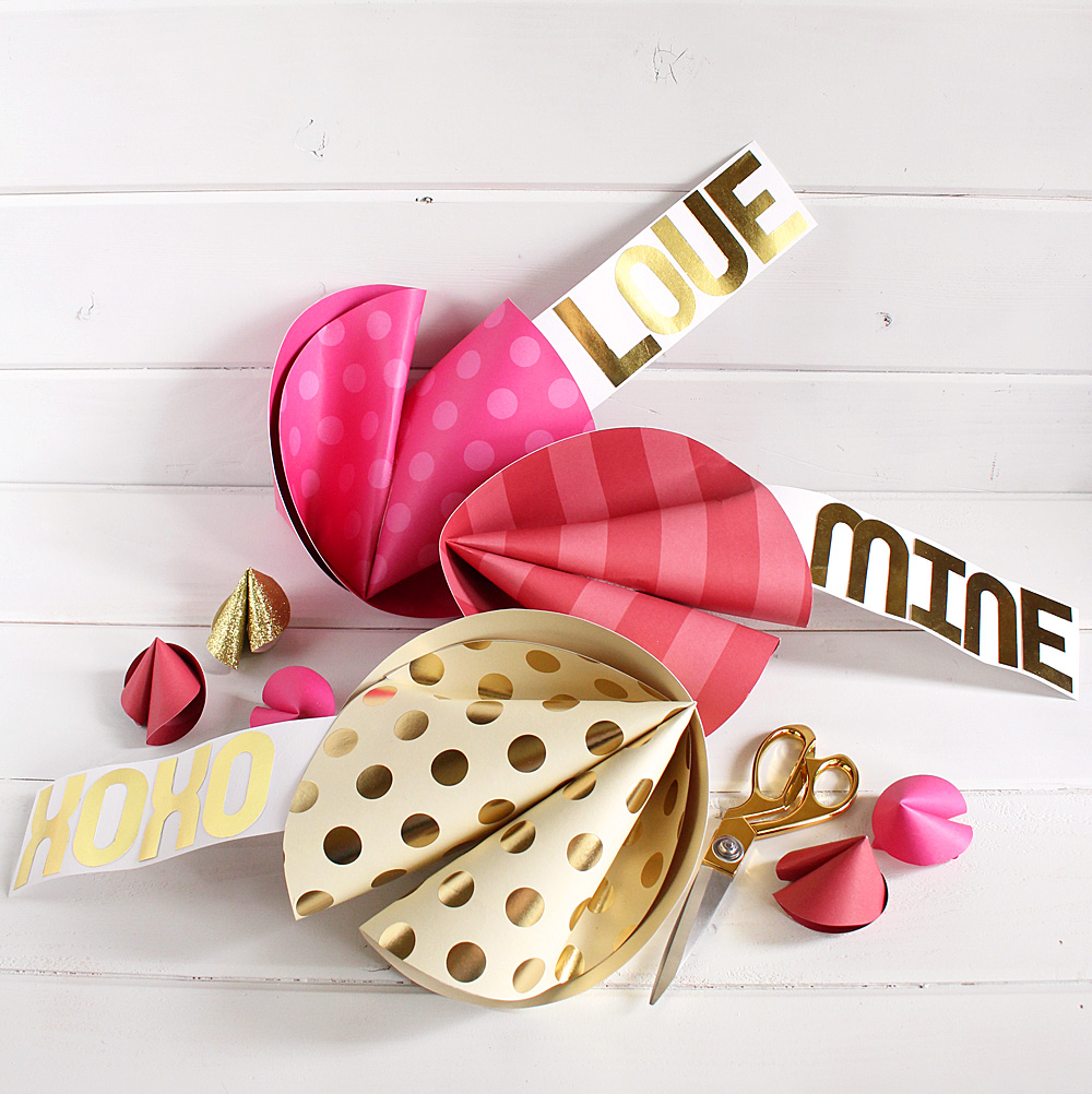 Jumbo Valentine Fortune Cookies by Kimberly Crawford for We R Memory Keepers