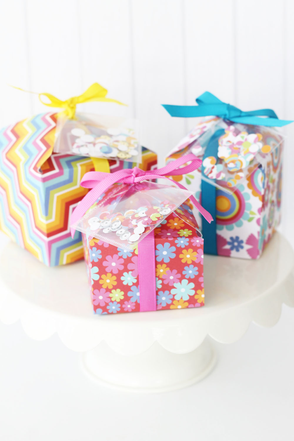 Confetti Birthday Favor Boxes by Laura Silva for We R Memory Keepers
