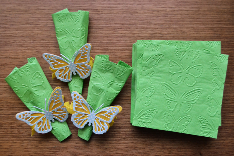 Embossed Party Napkins by Aly Dosdall for We R Memory Keepers