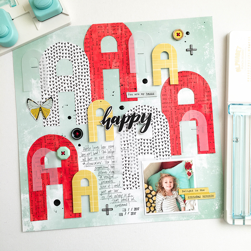 Alphabet Punch Boards Layout by Tessa Buys for We R Memory Keepers