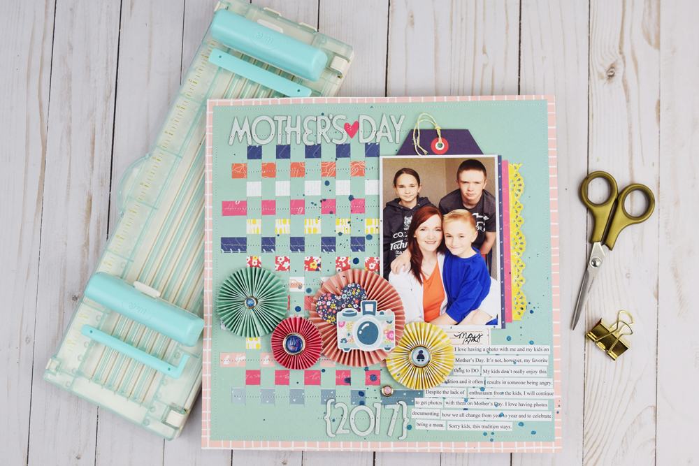 Fringe and Score Board Scrapbook Page by Becki Adams for We R Memory Keepers