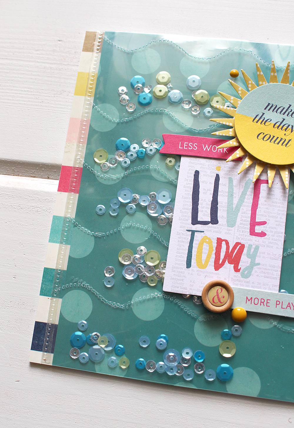 Summer Shaker Card by Kimberly Crawford for We R Memory Keepers
