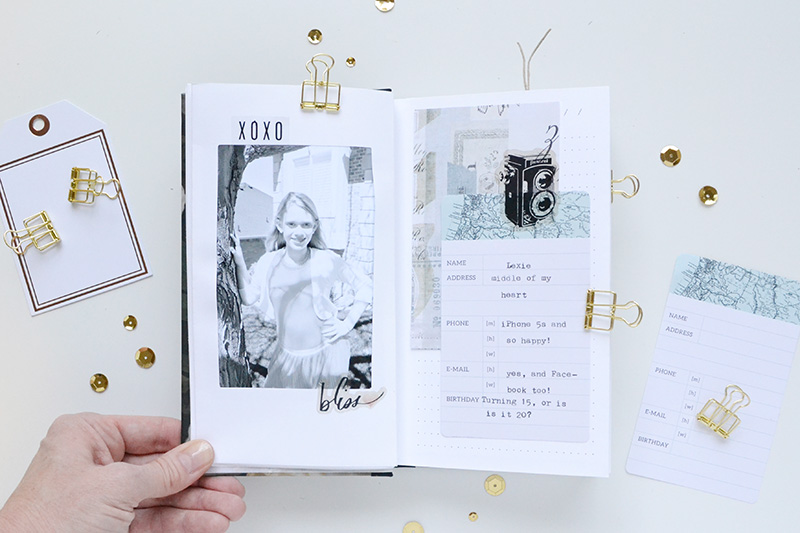 Mini Album by Aly Dosdall for We R Memory Keepers featuring the Typecast typewriter and Photo Sleeve Fuse