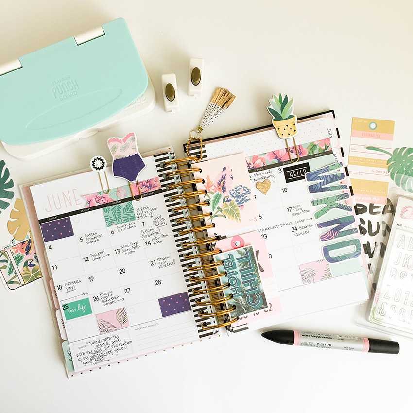 Planner Punch Board Summer Pages by Tessa Buys for We R Memory Keepers