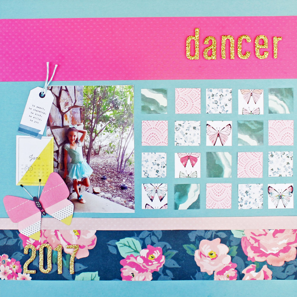 Scrapbook Page with the Supreme Ruler by Laura Silva for We R Memory Keepers